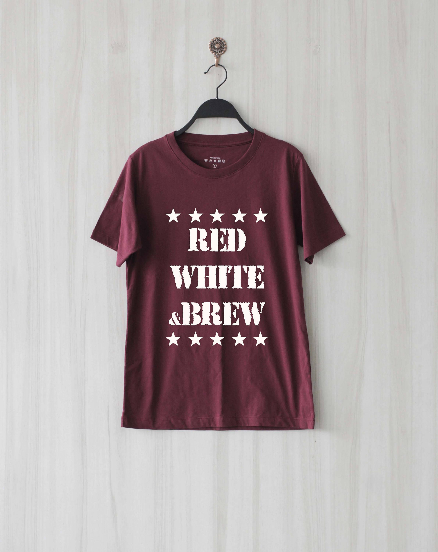 Rouge blanc et infusion infusion et chemise T Shirt Tee TShirt Top d9c45b