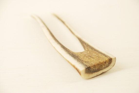 Eco hair fork | Antler wedding hair comb | Bone hair fork | Natural hair accessories | Antler headdress | Pagan goddess hair accessories