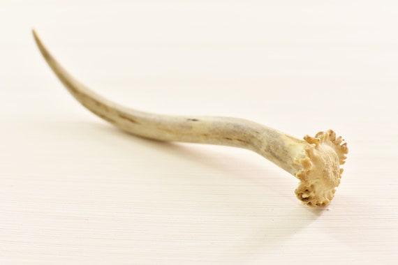 Minimalist hair stick | Antler hair pin | Carved bone hair stick | Rustic hair pin | Medieval reenactment hair stick | Pagan hair gifts