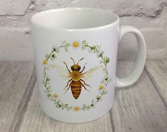 Honey Bee Mug / Bee Mug / Beekeeper Gift / Bee Lover Gift / Mother's Day Gift / Country Kitchen Mug / Honey Bee / Gardeners Mug /Bee Gift