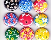 9 MARIMEKKO UNIKKO Badges - modern dress patterns kitsch retro art street