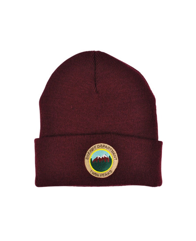 f6e2cac0668 Twin Peaks Sheriff Department Knitted Beanie tv prop david