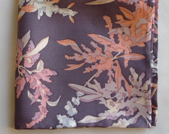 Oak Leaves Liberty of London silk pocket square