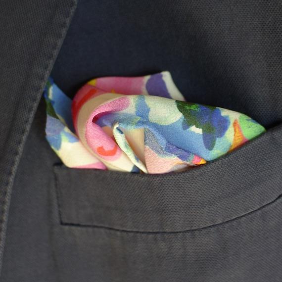 Lily Pad Liberty of London silk pocket square