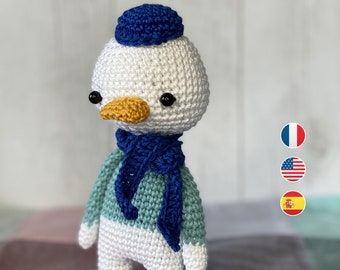 Amigurumi - Crochet Pattern, Peter Campbell the duck, Instructions, Toddler english terms us
