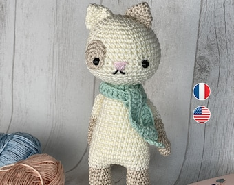Amigurumi - Crochet Pattern, Hector the cat, Instructions, Toddler english terms us