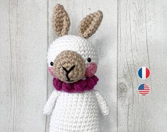 Llama Amigurumi - Crochet Pattern, Leon, Baby Doll Instructions, Toddler, Beginner Level