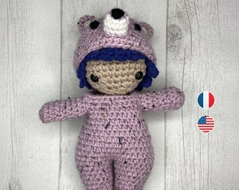 Amigurumi  - Leora Crochet Pattern, for kids, doll