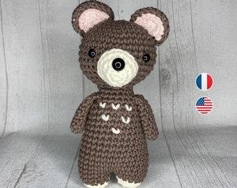 Amigurumi - Crochet Pattern, Marcel baby bear, Instructions, Toddler, Beginner Level