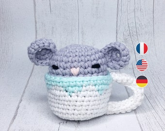 Amigurumi - Mouse Crochet Pattern, doll, DIY, level beginer
