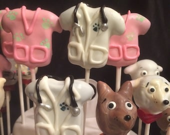 Veterinarian Thank you, PUPPIES and KITTENS, Vet office, Pet Groomer, cake pops, Dog Groomer, Doc McStuffins