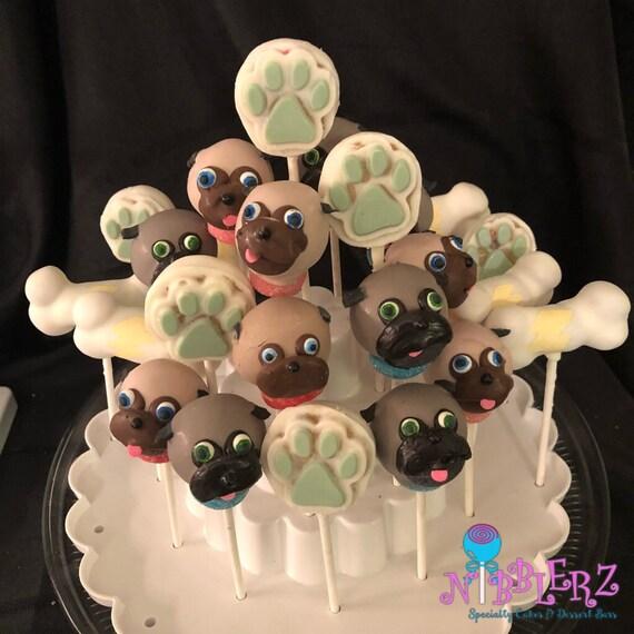 12 puppy dog pals cake pops collection pug life disney etsy
