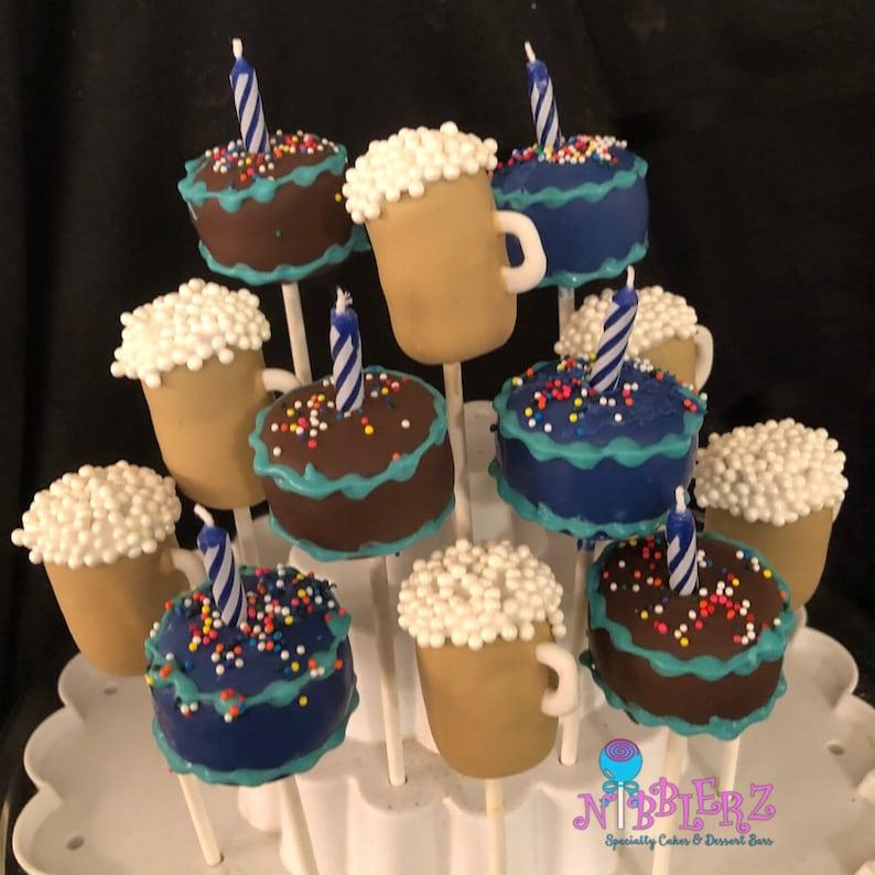 Birthday Cake Beer Mugs 21st Bday Cake Pops Adult