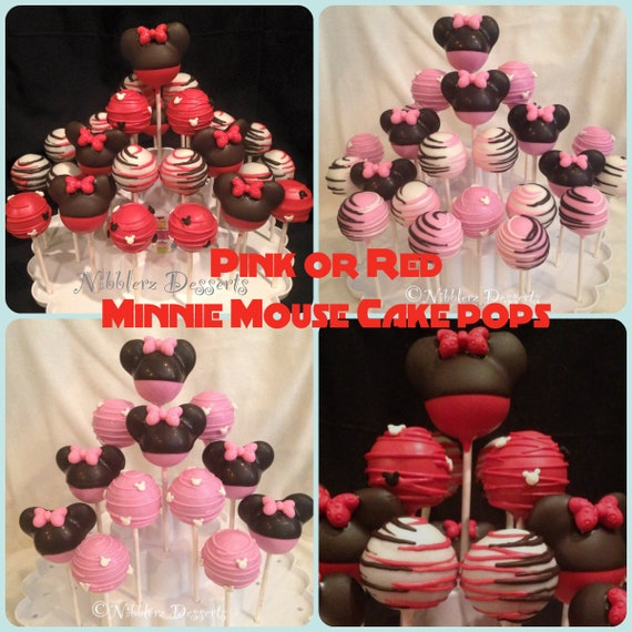 minnie mouse cake pops minnie mouse inspired cake pop assortment minnie or 5943