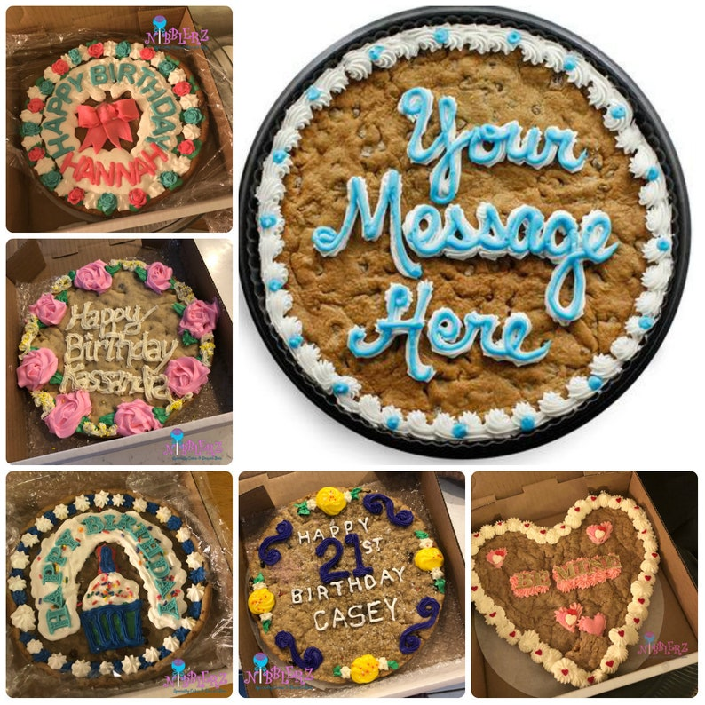 Giant Cookie With HAPPY BIRTHDAY Big Jumbo MESSAGE