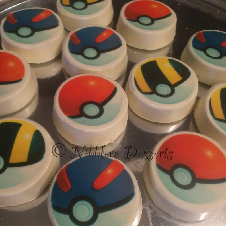 Party Favors Birthday Cake Topper 25 Piece Empty Pokeballs  Pokemon Balls