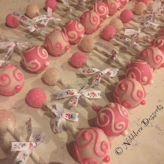 12 Baby Rattle Cake Pops Baby Shower Match Any Color Theme Etsy