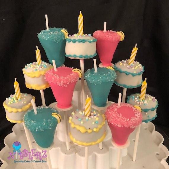 Cake Cocktails 21st Birthday Cake Pops Margarita Cake Pops Etsy