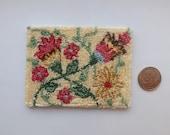 Dollhouse Miniature rug / carpet Spring Flowers 1/12 inch scale OOAK Punch Needle Handmade