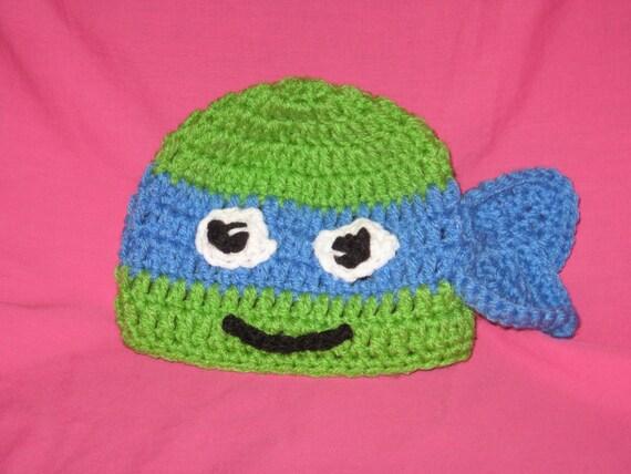 Crochet Teenage Mutant Ninja Turtles Hat Tmnt Hat Etsy