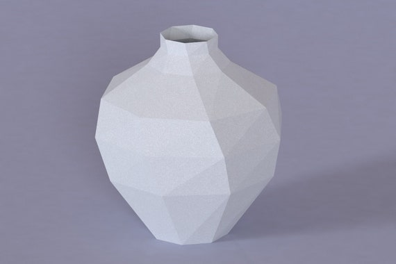 Printable Diy Template Pdf Vase Low Poly Paper Model V3 3d Etsy