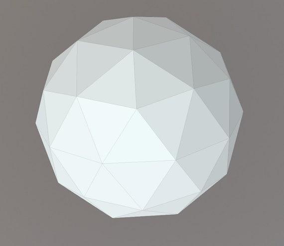 Printable DIY Template PDF Paper Egg 3D