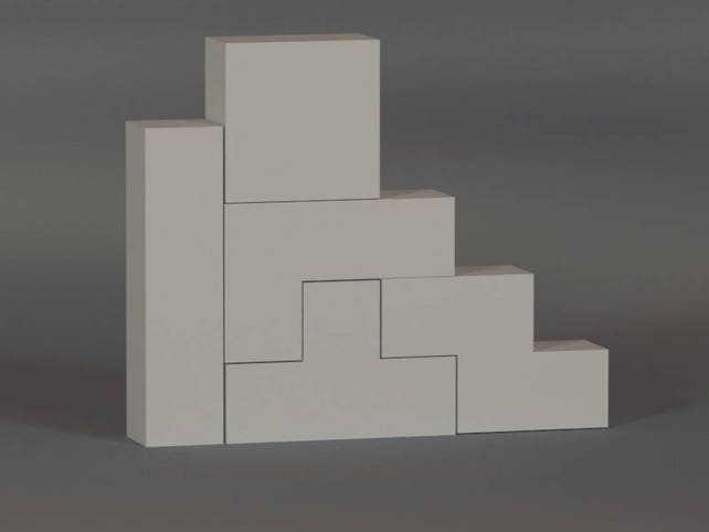 Printable Diy Template Pdf Tetris Blocks Paper Model 3d Etsy