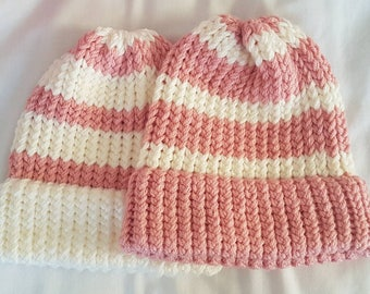 Pink and White Striped hats