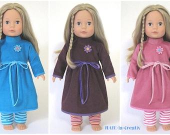 2 parts outfit JESSICA - dress + leggings - color choice - dolls clothes set doll clothes