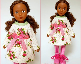 Doll clothes Kruselings, Käthe Kruse, JOY, pink cream green