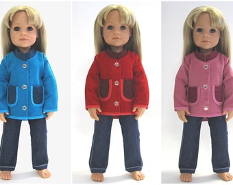 HANNAH fine cord jacket - in 3 colors to choose from - doll clothes