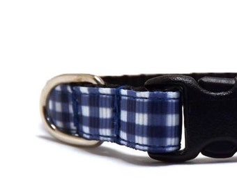 The Summer Gingham | Cat Collar with Bell