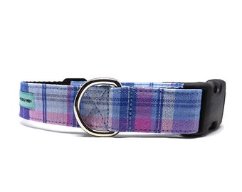 Preston Plaid | Unisex Plaid Dog Collar | Available in 4 widths