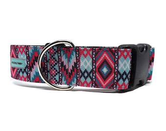 "Southwest Stripes - Dog Collar | 1.5"" Dog Collar for Medium to Extra Large Dogs"