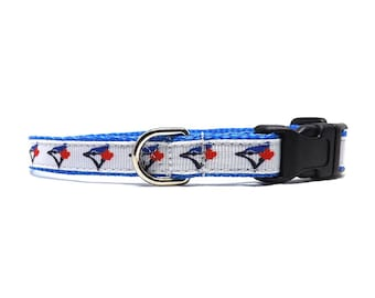 "Blue Jays Fan - Dog Collar  | 1/2"" Collar for Mini, Teacup and Toy Breeds"