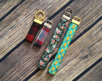 Mini Key Fob and Wristlets | Gift, Key Accessory, Purse Handle, Dog Collar Accessory