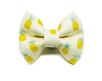 Pineapple Bow Tie - Dog or Cat Collar Attachment | 5 Sizes Available