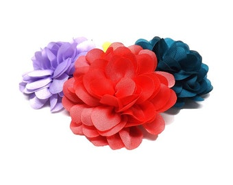 NEW! Silky Mini Mums - Cat or Small Dog Collar Flower | Small Flower 14 Colours Collar Attachment