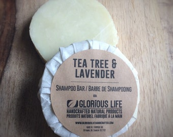 Solid Shampoo Bar, Lavender Shampoo, Tea Tree Shampoo, Natural Shampoo, sls free, Eco Friendly Shampoo, Vegan Shampoo, Handmade Shampoo Bar