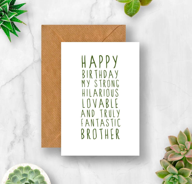 Sweet Description Happy Birthday Brother Card For