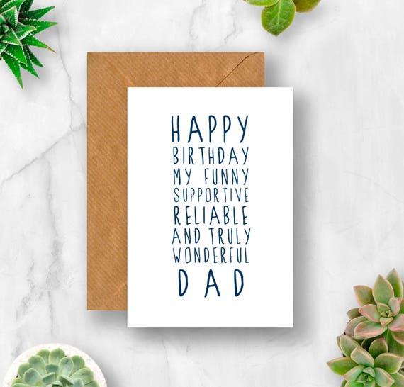 Sweet Description Happy Birthday Dad Card
