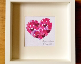 Hearts Personalised Art/Gift