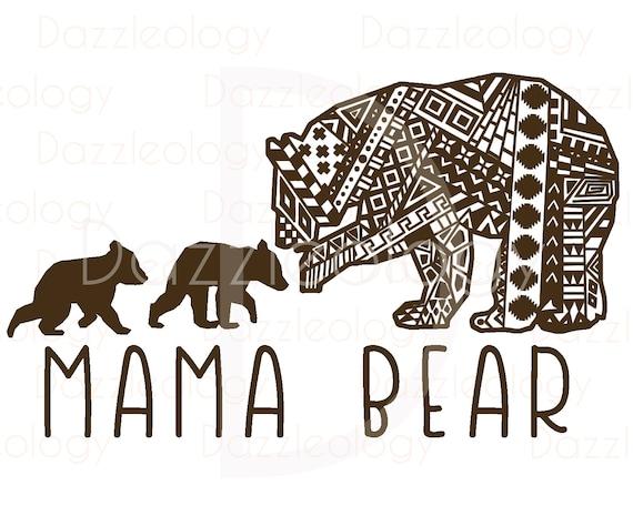 Mamá Osa y oseznos diseñan intrincado Mehndi Azteca Tribal Zen   Etsy