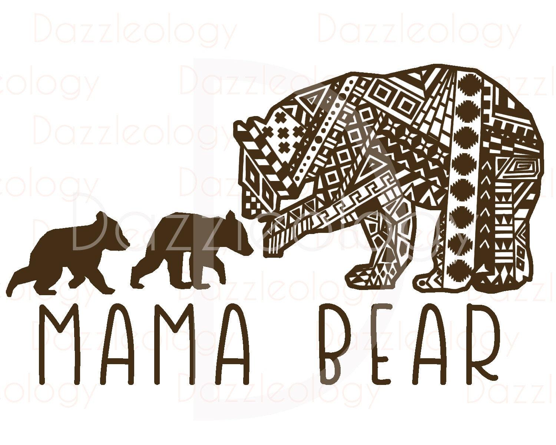 Mamá Osa y oseznos diseñan intrincado Mehndi Azteca Tribal Zen | Etsy
