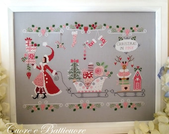 Chart Natale in Rosa - Paper format or PDF on demand