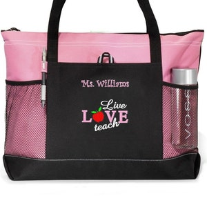 FREE PRIORITY SHIPPING Custom Tote Personalized GreyWhite Polka Dot Gift Teacher Bag Tote Diaper Gift Sister Personalized Monogram
