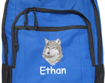 Watercolor Wolf Design Personalization Custom Gym Bag