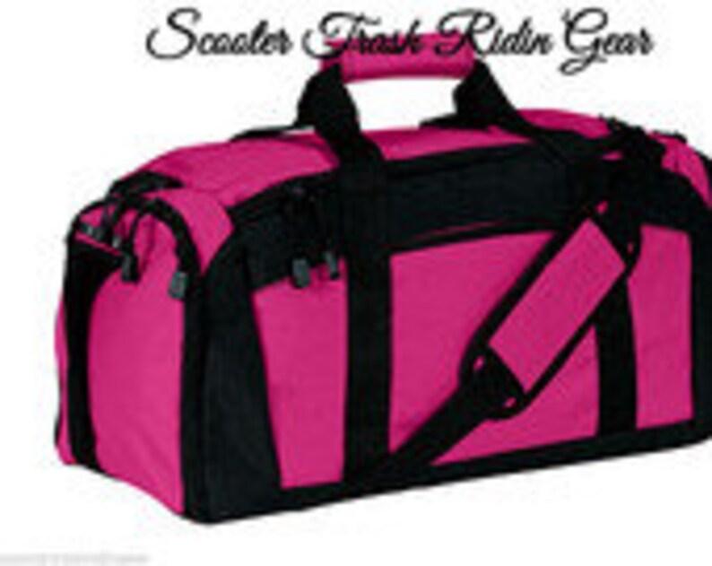 12812b5dafb8 Personalized Duffle Bag Gym Sport Duffel with black trim NEW monogram -  FREE SHIPPING
