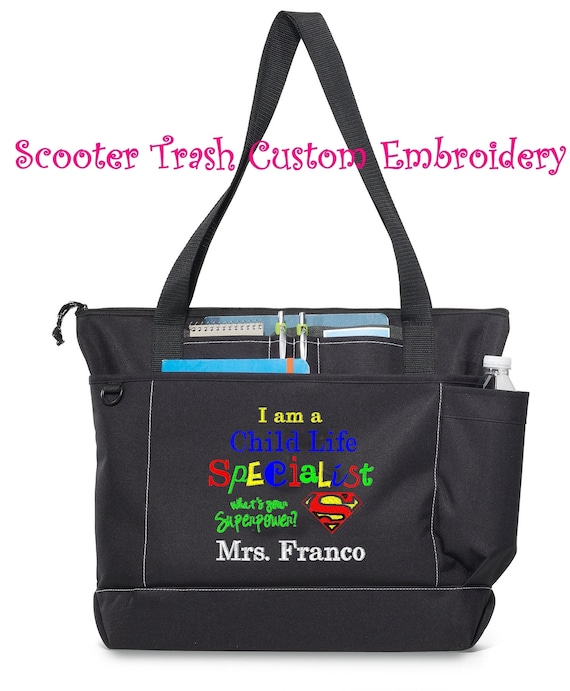Free Shipping Personalized Child Life Specialist Tote Bag  dcb93b5579a9f