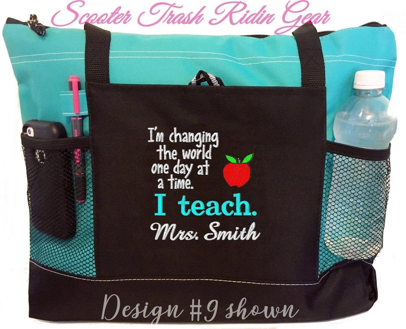 Free Priority Mail shipping  Personalized Teacher Tote Bag  image 0
